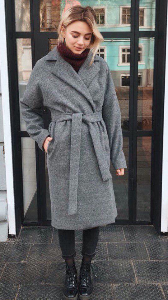 """Пальто кашемировое с рукавами """"реглан"""""""