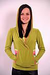 Реглан салатовый Кенгуру кофта с капюшоном  306323, фото 3