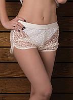 Короткие пляжные шорты гипюр Marina ТS-009 W 42(S) Белый