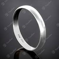 Перстень серебряный 012 Обручальное кольцо Rh
