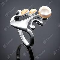 Перстень серебряный 046 Жемчуг