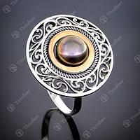 Перстень серебряный 240(2) Черный Rh