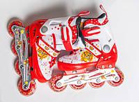 Ролики детские раздвижные 4030 красные 32-35