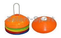 Фишки для разметки поля на метал. подставке  (пластик, d-20см, 50шт, вес 34гр, уп. пакет)