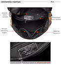 Кожаный рюкзак под крокодила Realer коричневый (687), фото 2