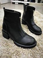 Ботинки женские с двумя молниями, фото 1