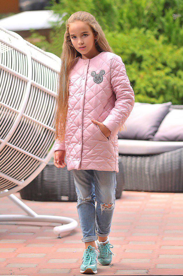 Куртка-пальто для девочки демисезонное