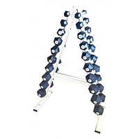 Гантельный ряд Newt Profi от 1 кг до 10 кг со стойкой