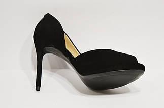 Туфли замшевые женские открытые Veritas, фото 2