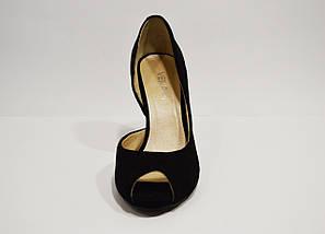 Туфли замшевые женские открытые Veritas, фото 3