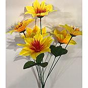 Искусственные цветы. высота букета 30 см, 6 голов. голова диаметром 8 см., фото 1
