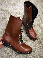 Модные полусапожки на шнуровке , фото 1