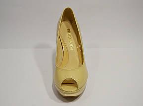 Туфли женские бежевые Bravo Moda, фото 3