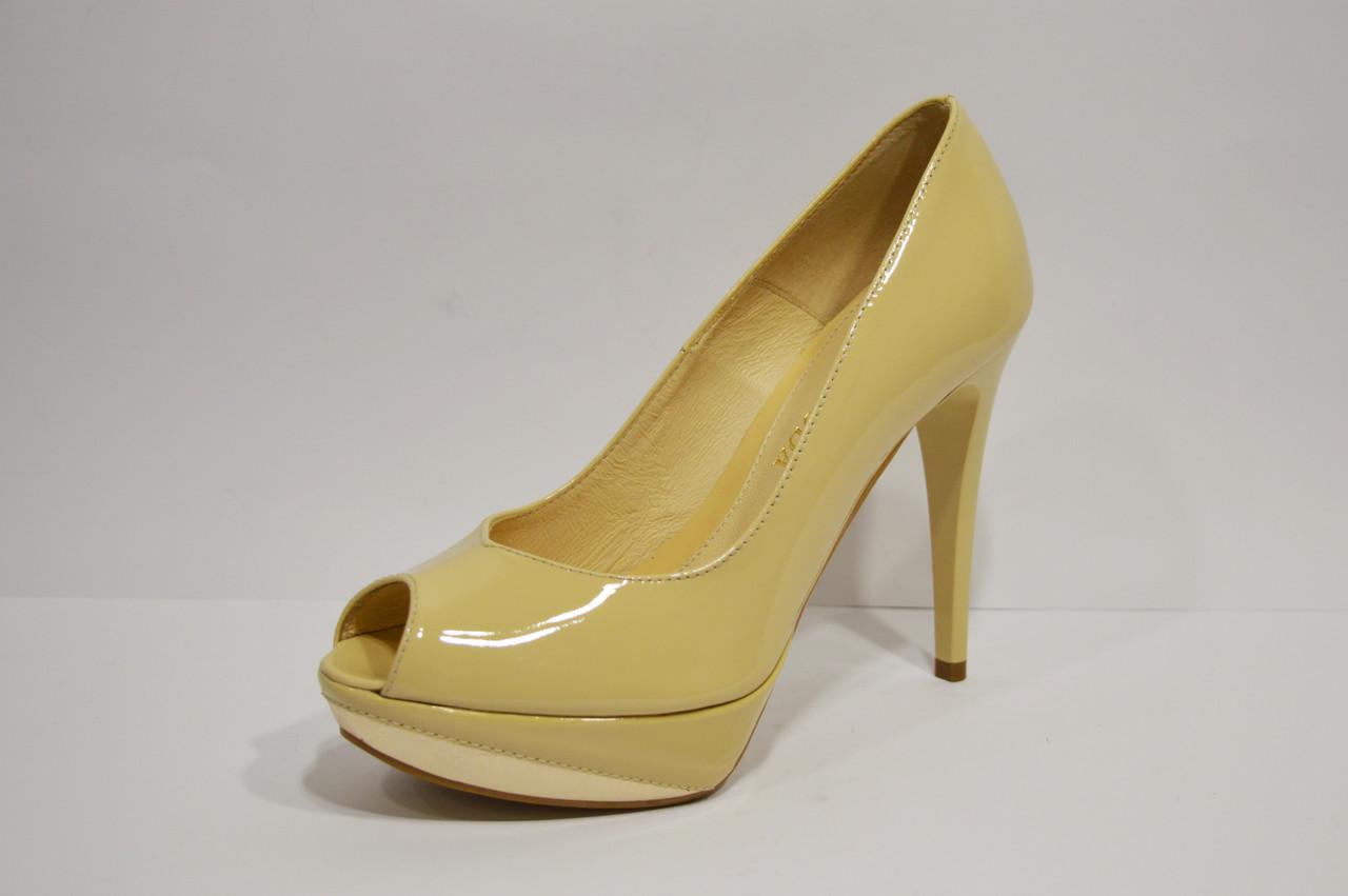 Туфли женские бежевые Bravo Moda