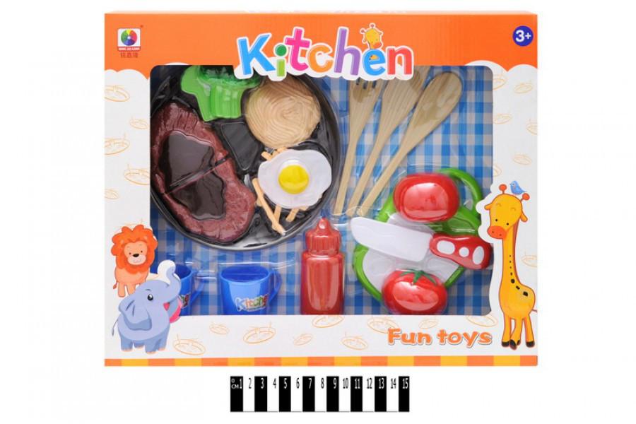 Набор игрушечных овощей и фруктов на липучках MJL-801F-1