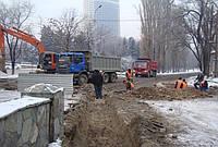 Рытье, копка траншей . Вырыть траншею Киев, выкопать траншею