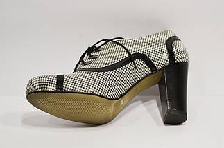 Ботинки женские кожаные черно-белые Avanti, фото 3