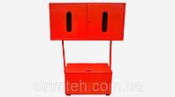 Стенд пожарный (ящик для песка стацион.400х800х400 + щит закрыт.типа 650х1250х300) пожарный пост