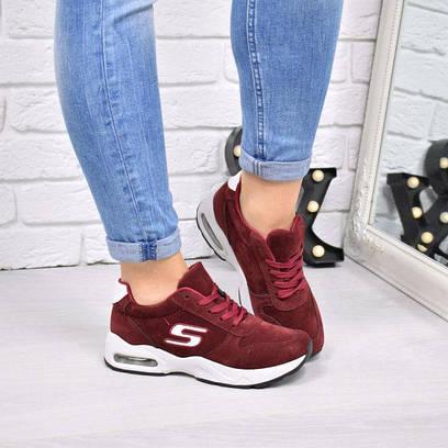 Кроссовки женские Skechers бордовые 4211, обувь украина  продажа ... 4dbafb31da0