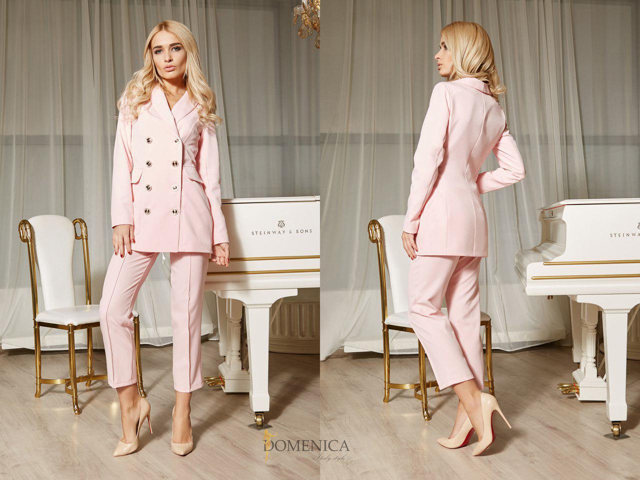 b2ba29b1119 Женский костюм с удлиненным двубортным пиджаком 31KO300  продажа ...
