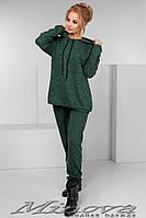 """Спорт.костюм женский.Ткань ангора """"софт"""" №1127 (т.зеленый)"""