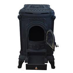 Камин буржуйка печь чугунная Black 8 кВт Топка