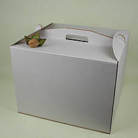 Коробка 450*450*450 для торта с ручками, микрогофрокартон