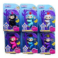 Интерактивная ручная обезьянка на палец Baby Monkey LF-8 (аналог Fingerlings Monkey by Wow Wee) 6 функций