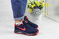Кроссовки женские темно синий с красным Nike Flyknit Air Max 4374