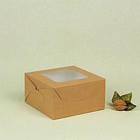 Коробка 170*170*90 для капкейков (4 шт), крафт