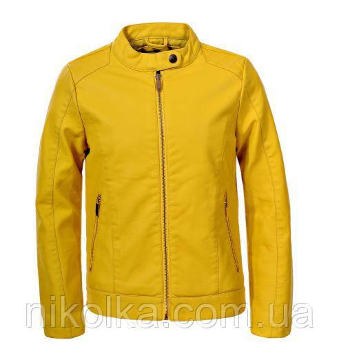 Куртки кожзам для девочек оптом, Glo-story, 134/140-170 рр., арт. GPY-5818