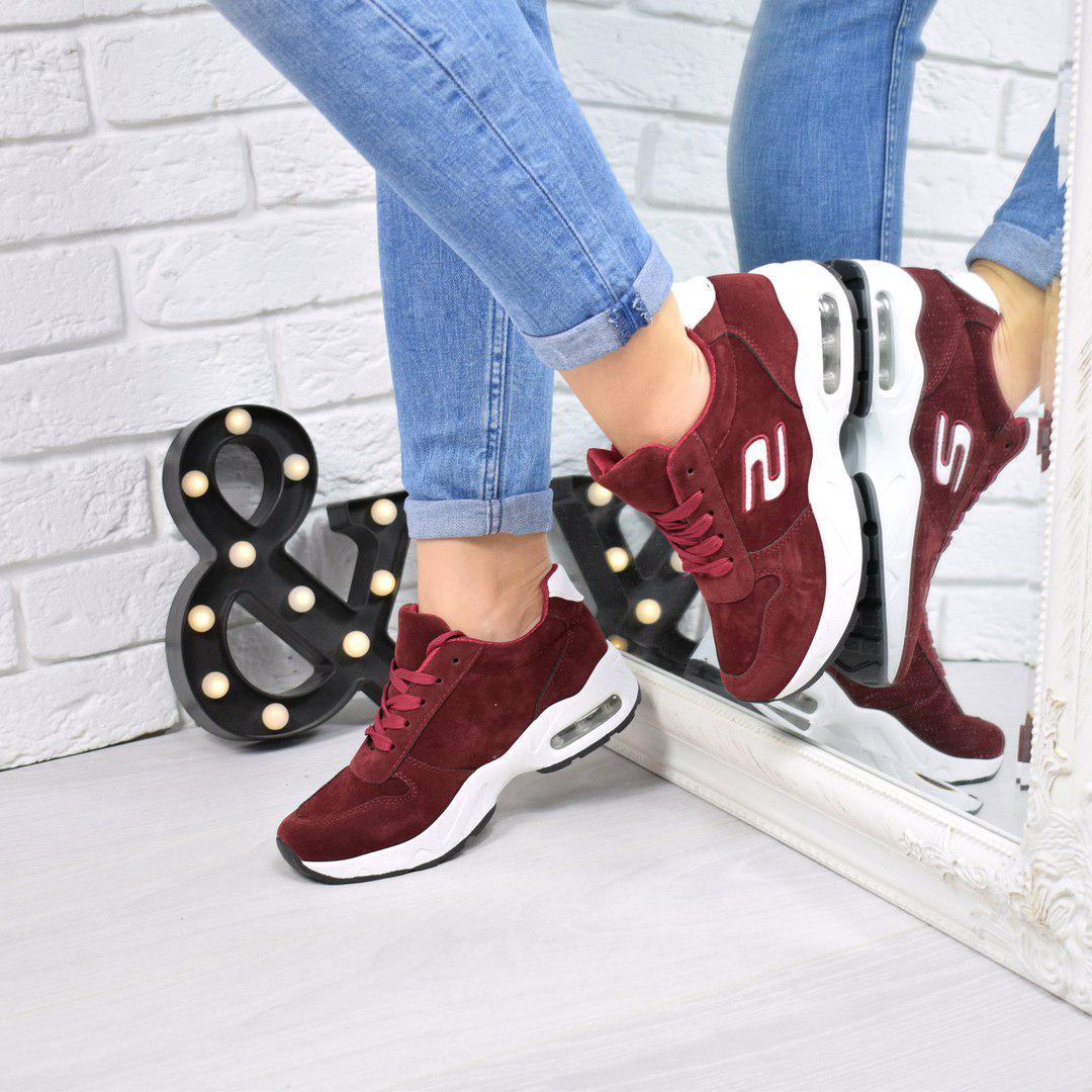 Купить Кроссовок женскую S бордовую обувь женскую по низкой цене в ... 35011670f2b