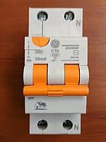 Диф автомат 2 полюса 10А 30мА General electric