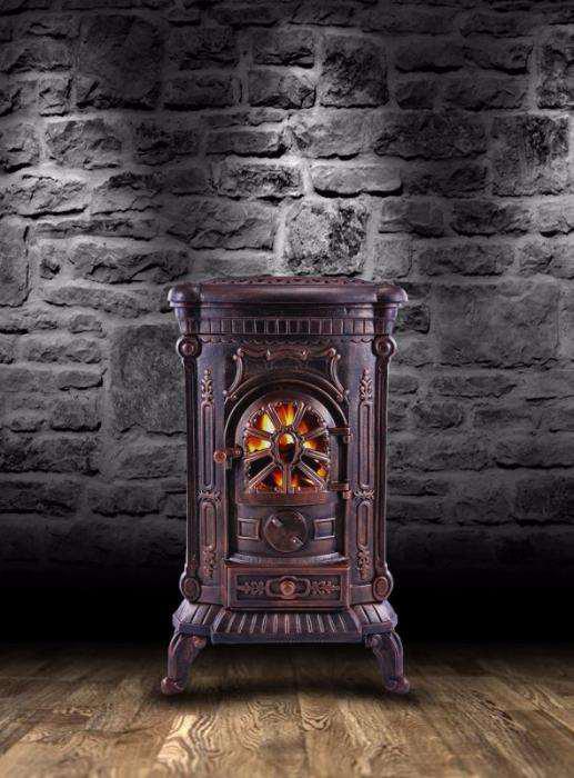 Камин Печь буржуйка чугунная Ambre 9 кВт Амбре Топка