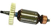 Якорь тст-н болгарки Интерскол УШМ-150/1300, DWT WS-150 SL (43*181 мм, хвостовик - шлиц+резьба 9 мм)