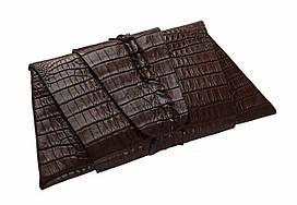 Клатч из кожи крокодила Ekzotic Leather Коричневый (ccl01)