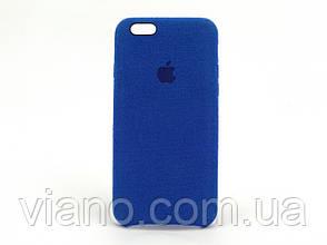 Замшевый чехол iPhone 6/6S (Синий) Alcantara case