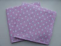 Трикотажная пеленка Горошки на розовом