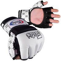 Fairtex Боевые перчатки MMA FGV17 |бел/черн