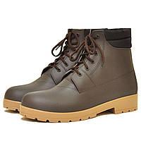 Мужские ботинки NORDMAN ROVER коричневые с бежевой подошвой и утепляющим вкладышем