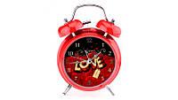 Часы-будильник LOVE Hearts rose с кнопкой подсветки циферблата