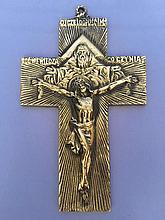 Крестик настенный из бронзы