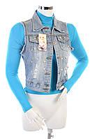 Джинсовая жилетка женская 3368 XL