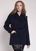 Оригинальное пальто выполненное из высококачественного кашемира V-g  Шарм темно-синий