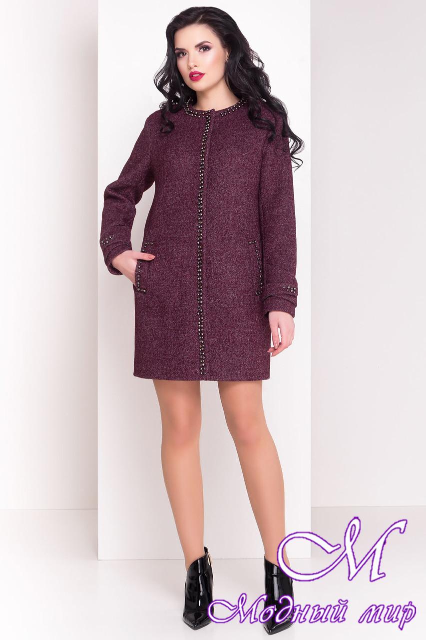 Стильное весеннее пальто из шерсти (р. S, M, L) арт. Анси 3429 - 17501