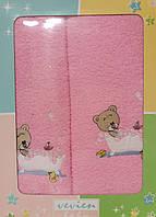 """Набор детских полотенец """"Мишка"""" розовый"""
