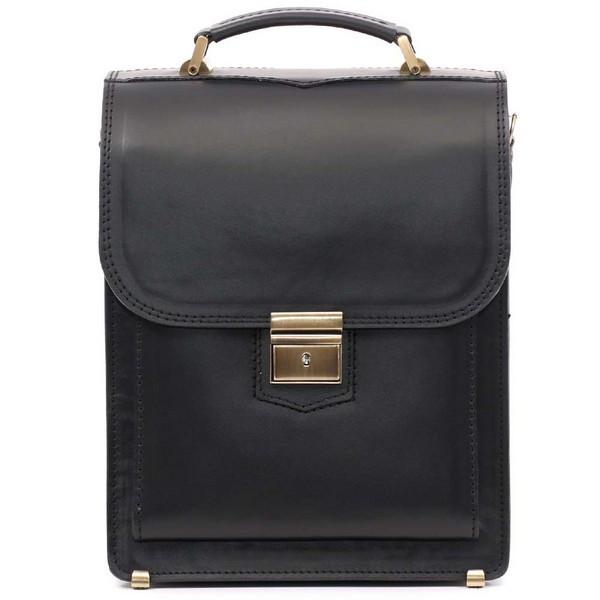 5bb8282c6e56 Кожаная сумка портфель СПБ-2 Черная/Гладкая, цена 2 200 грн., купить ...