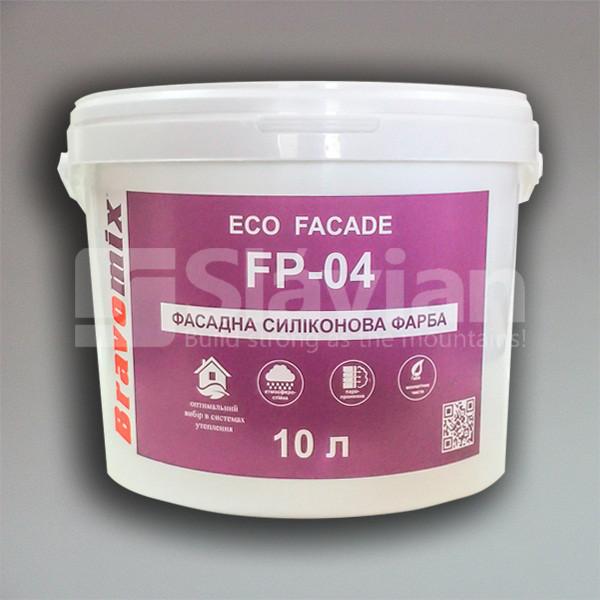 Фасадная силиконовая краска Bravomix «ECO FACADE FP-04», 10л