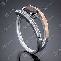 Перстень серебряный 496 Гранат Rh