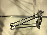Крючок двойной хром. в эк.панель 15 см.(5 мм.)